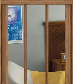Šatní skříň UNI - umístění skla