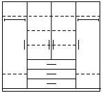 Šatní skříň KOMBI 6B